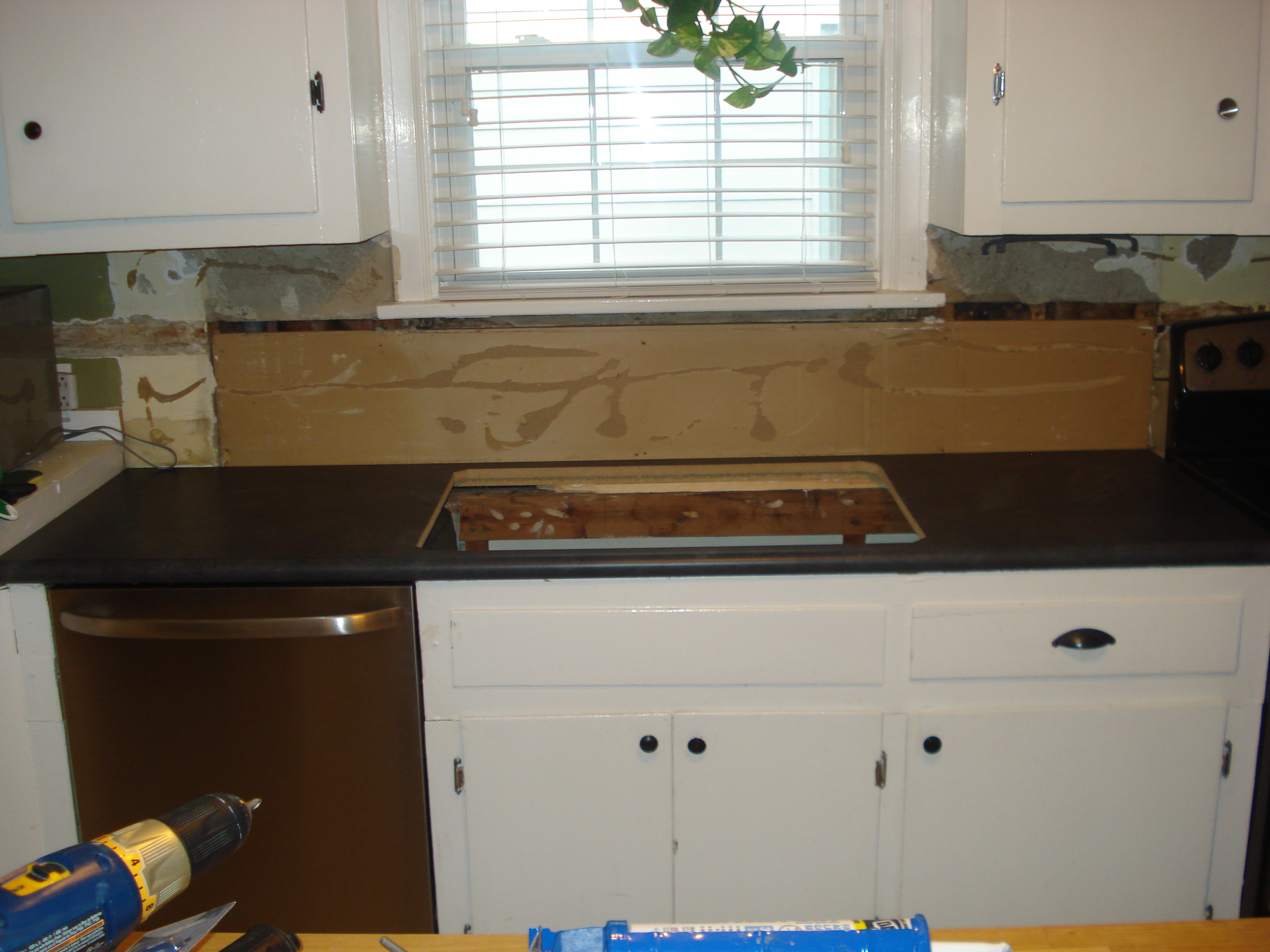 When last we visited the kitchen, we had new countertops and had ...